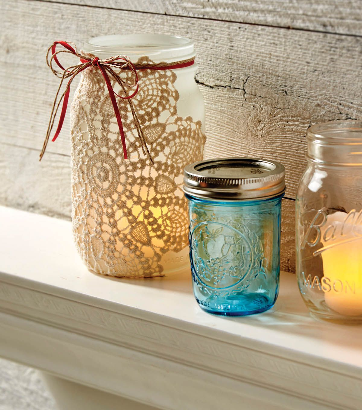 How To Make A Frosted Ball Jar With Doily Joann Jo Ann Ball Jars Jar Crafts Mason Jar Crafts