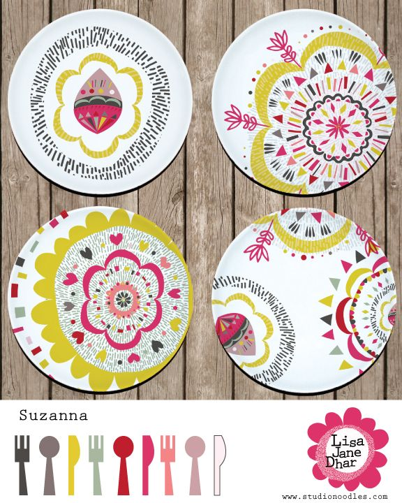 www.studionoodles.com -Suzani Plates