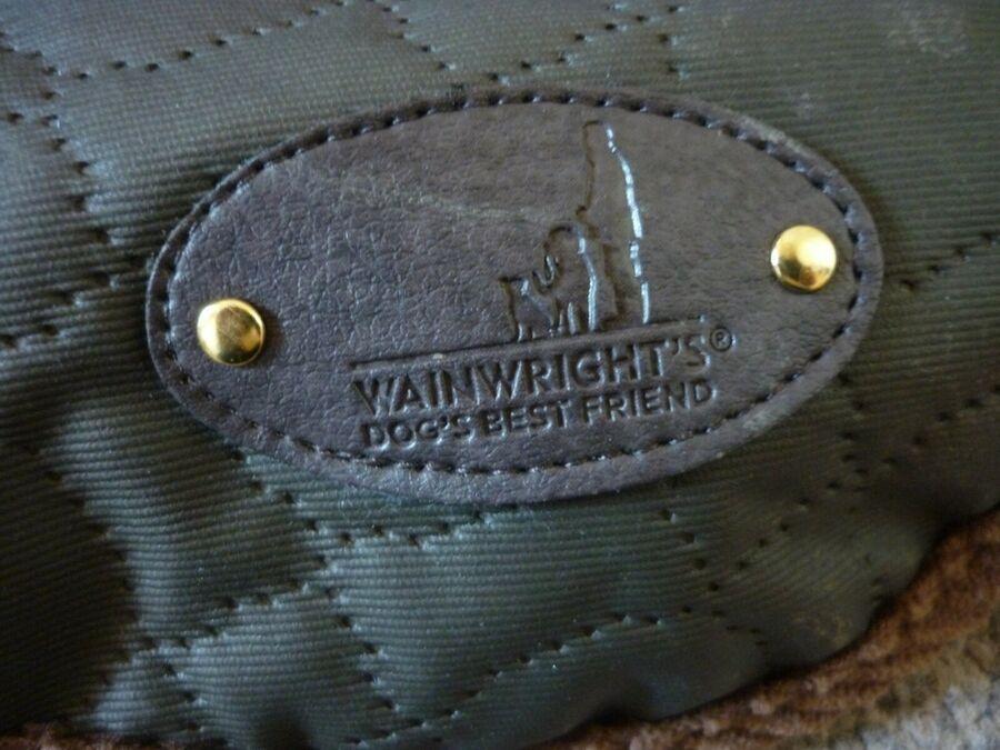 Wainwright S Dog Coat Green With Browm Trim Size Medium New Ad