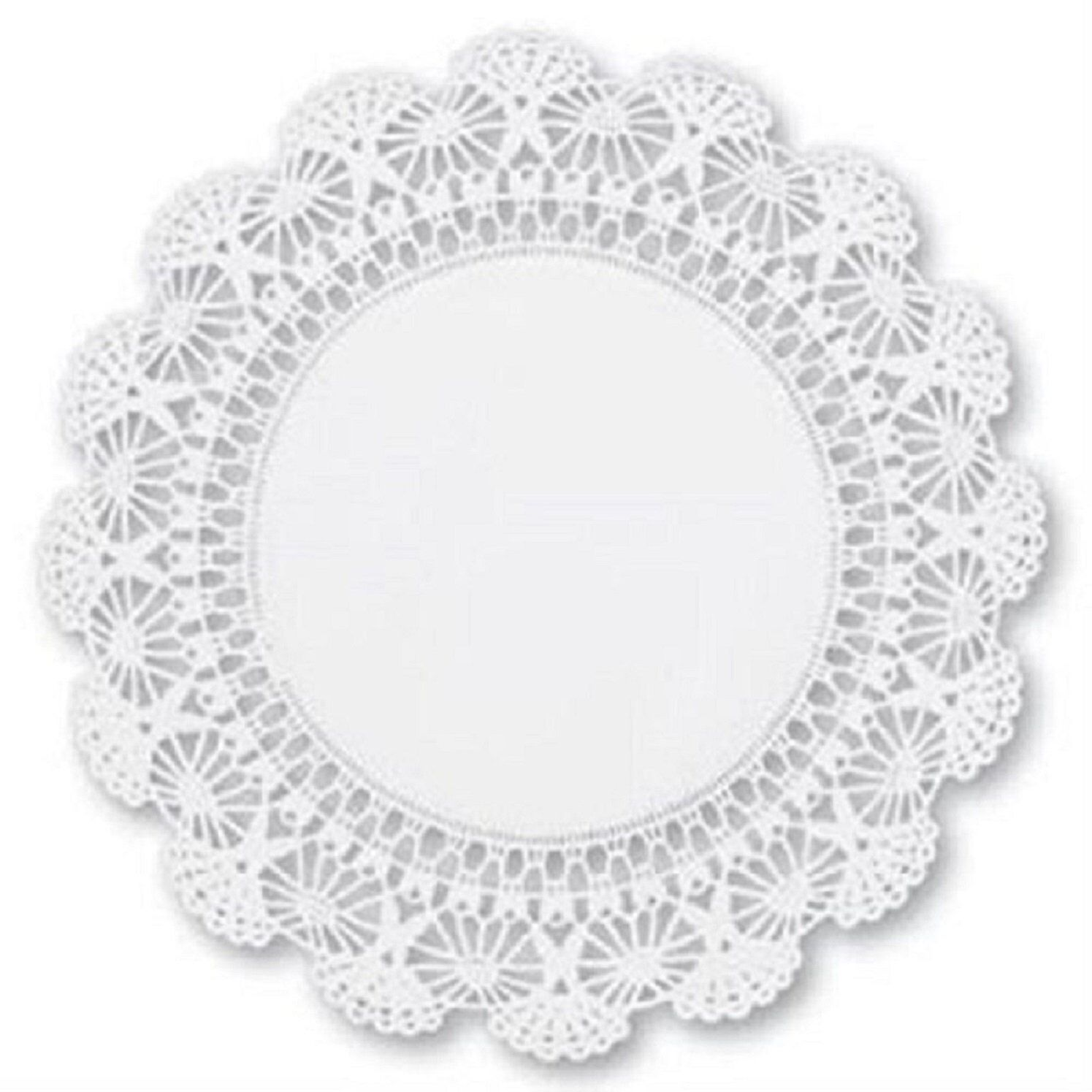 100 Ct 8 Cambridge Paper Lace Doilies White Round Doily