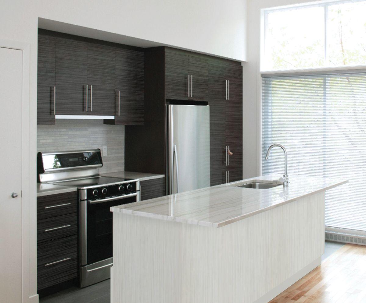 Inspire Black River Kitchen (IBR) With Cliffstone Island (ICS)    Cabinetsmith Canadian
