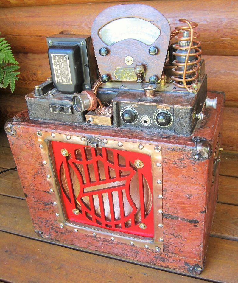 Guitar amplifier created from 1930s Bell & Howell movie