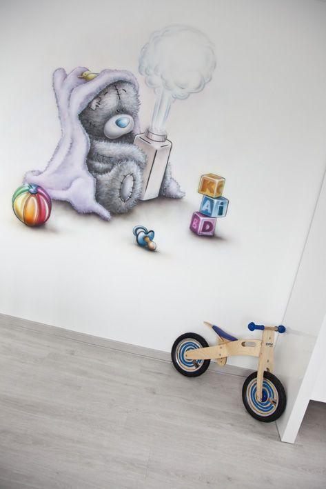 Babykamer muurschildering me to you beertje van R BRUSH. Babykamer muurschildering   IN KLEUR Wandschilderingen   Pinterest