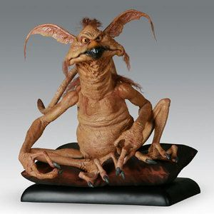 Everyone's favorite Kowakian monkey-lizard (Salacious B. Crumb) is now available as a lifesize figurine by artist Tony McVey.  Limited edition of 600. Figure includes pillow and display stand.  (Figurines can be found on eBay for 600$US or so.)