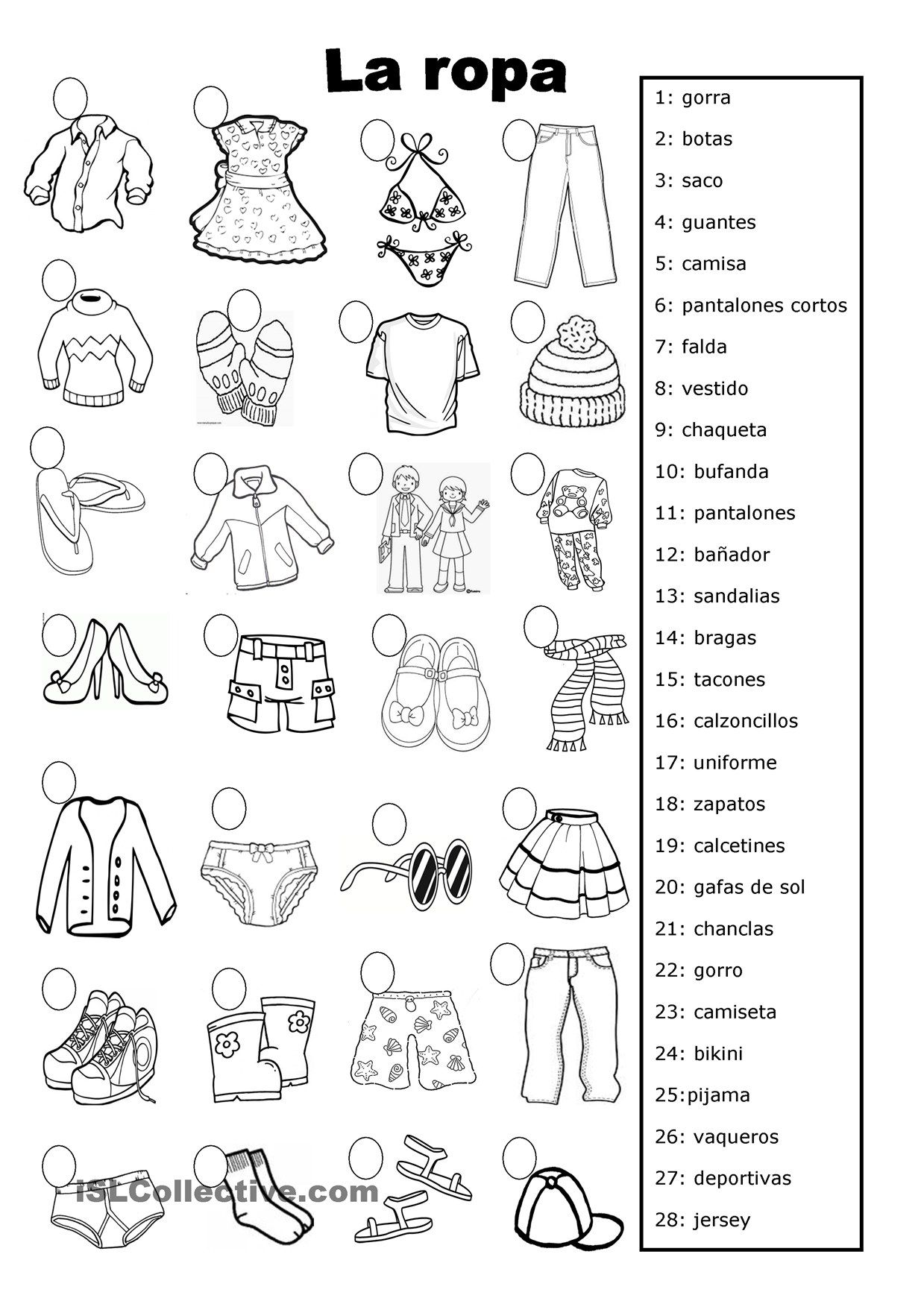 la ropa | fichas lectoescritura | Pinterest | Spanisch