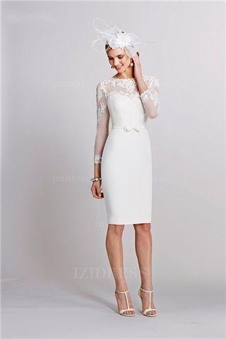 Standesamt kleid weiß kurz | Kleid hochzeit, Brautkleid ...