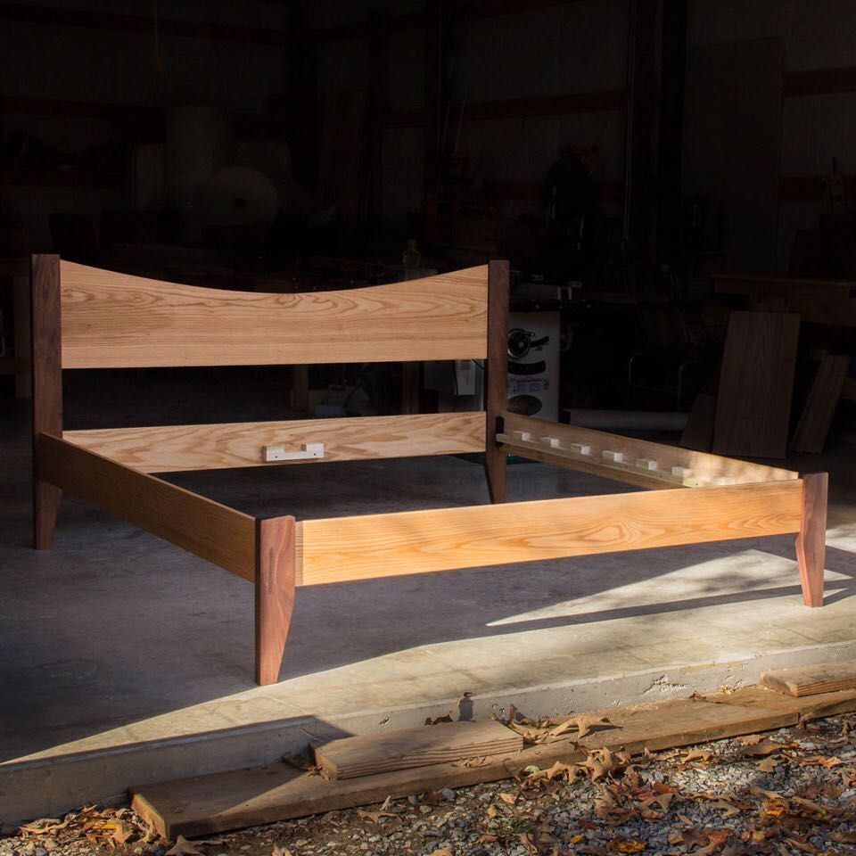 Red Oak And Walnut King Size Platform Bed Heading To Austin Soon