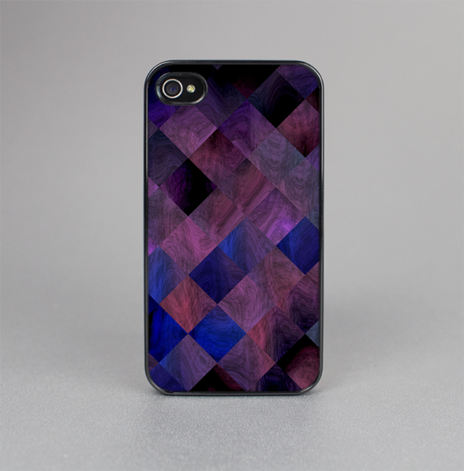 The Dark Purple Highlighted Tile Pattern Skin-Sert for the Apple iPhone 4-4s Skin-Sert Case