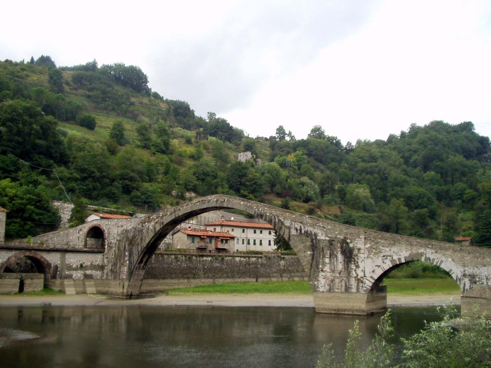Italie Middeleeuwse brug