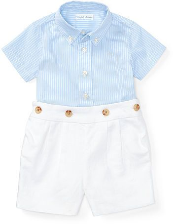 Baby Boy Ralph Lauren Shirt Short Set Baby Boy Outfits Baby
