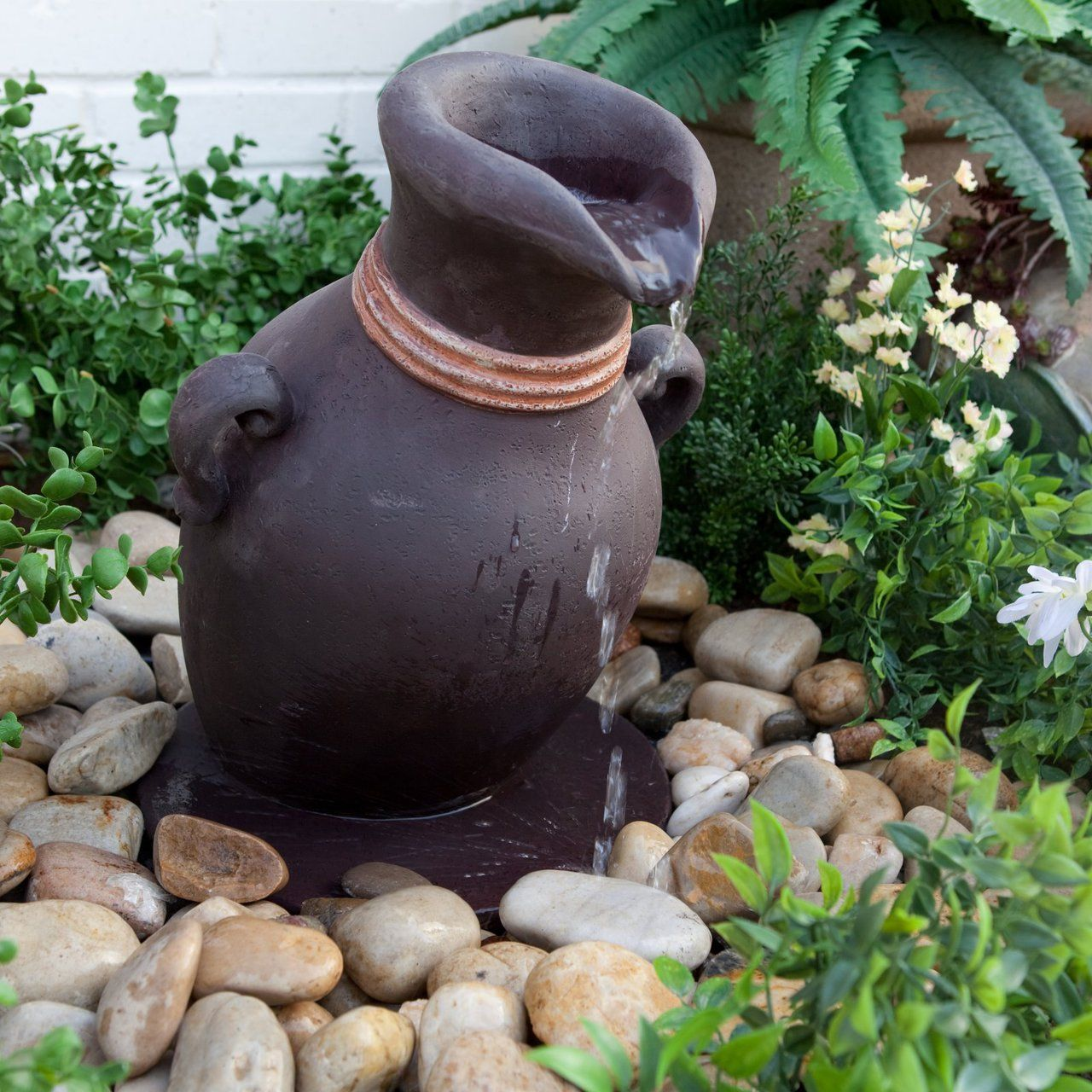 Leaning Vase Fountain Water Feature Bubbler   Pond And Garden Depot