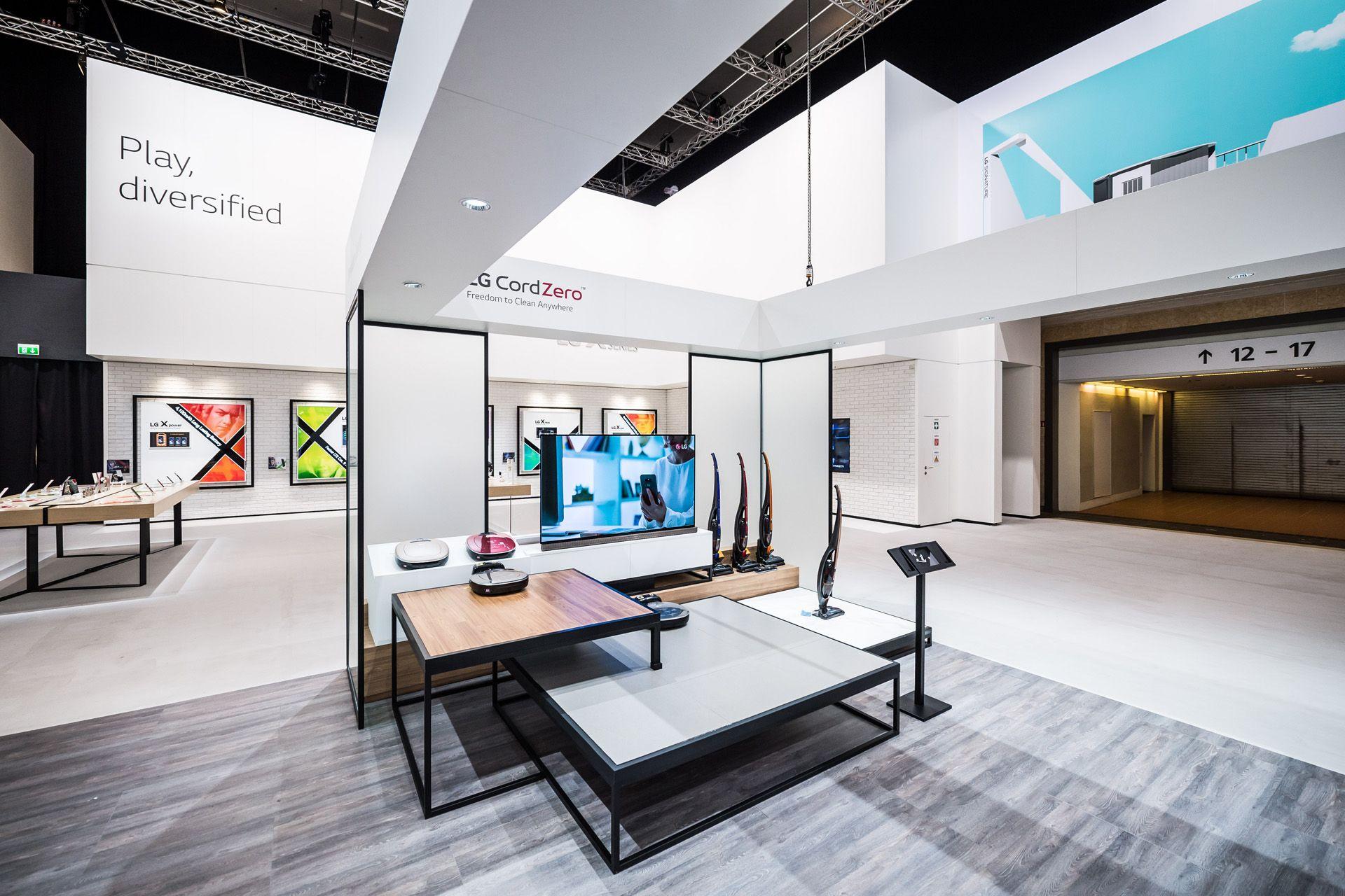 Lg Messestand Ifa 2016 Berlin Lichtgestaltung Und Fachplanung Booth Design Design Exhibition Design