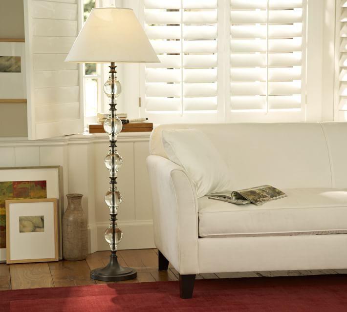 Marston Crystal Floor Lamp Base | Lamp bases, Floor lamp and Living ...
