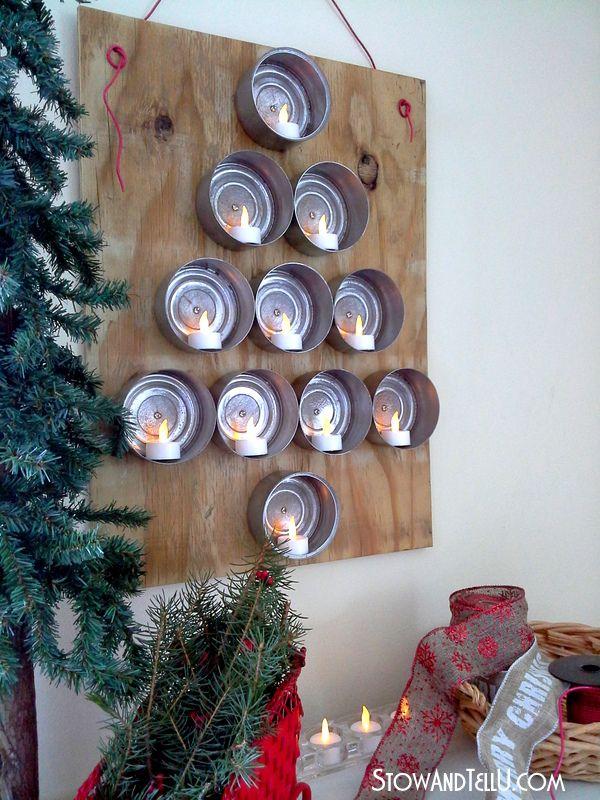 Upcycled Tuna Can Christmas Tree Can Do Pinners