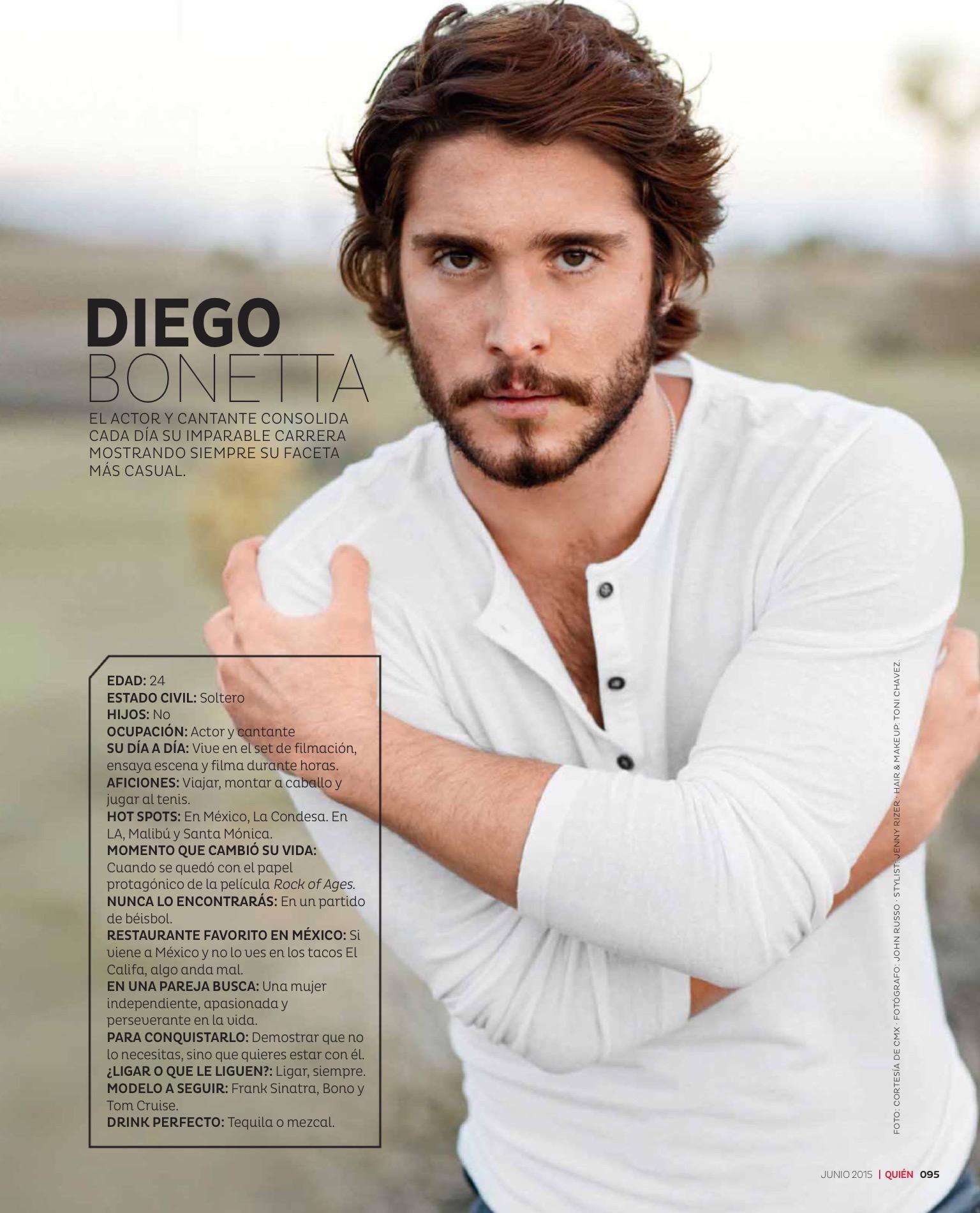 Diego Boneta en revista QUIEN – Junio 2015 | Diego Boneta Group