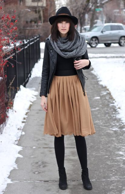 Feminine Pleated Midi Skirt Outfits For Fall And Winter | Style ...
