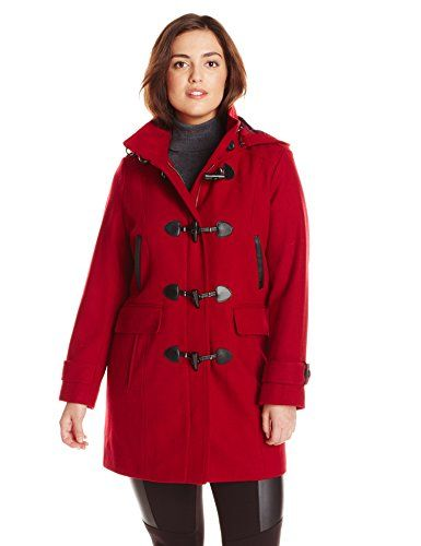 ddbd397e50c98 Fashion Bug Women s Plus Size Wool Duffle Coat www.fashionbug.us  PlusSize   FashionBug