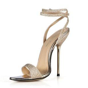 Las sandalias de las mujeres de las bombas Zapatos abiertos del estilete de los zapatos de tacón de cuero sintético