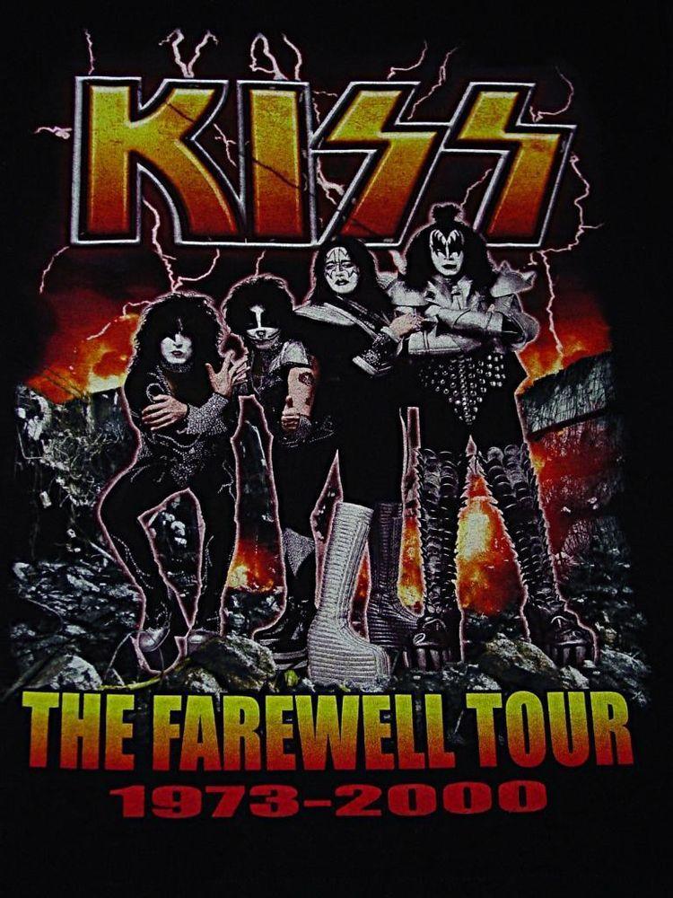 Nos Vintage 2000 Kiss Farewell Tour Shirt Halloffame
