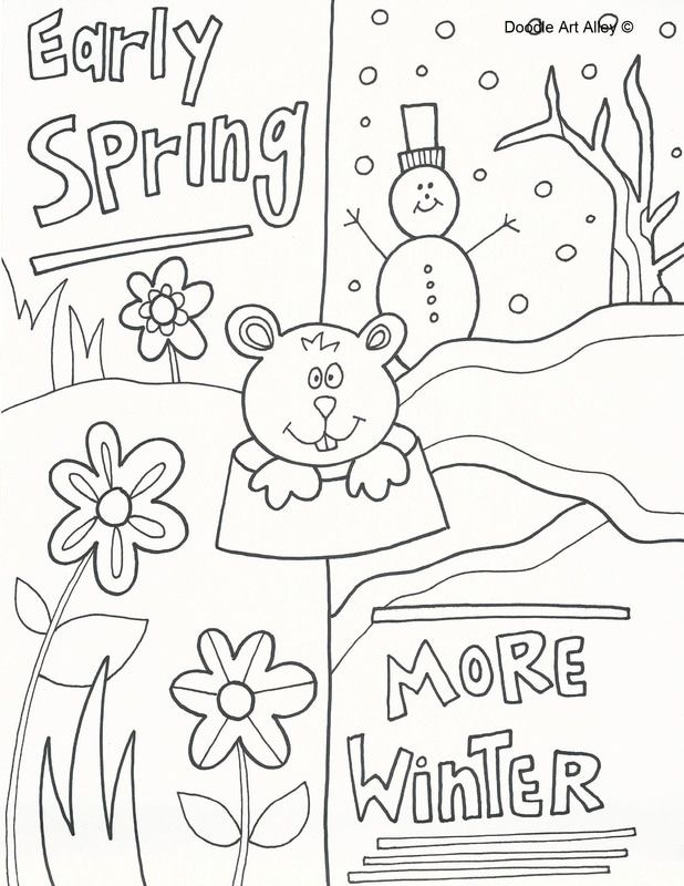 Groundhog Day Coloring Pages From Doodle Art Alley Print And