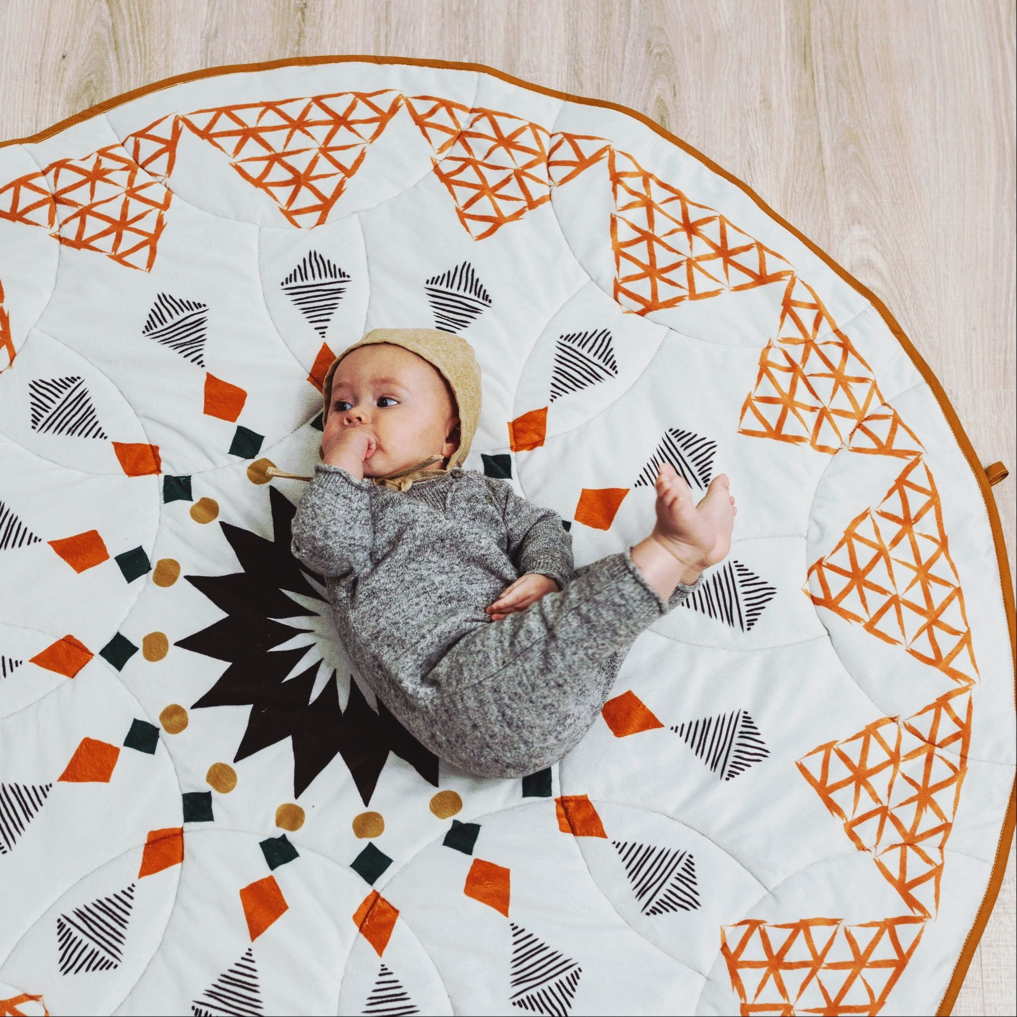 Padded Quilted Baby Play Mat Floor Rug Tummy Time Baby Shower Gift Nursery Decor