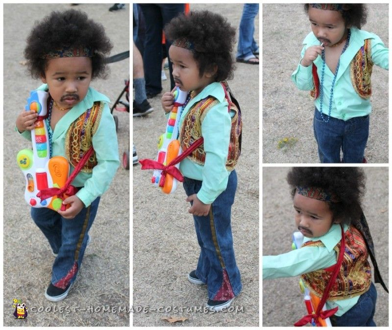 Cute Jimmy Hendrix Costume for a Toddler Halloween