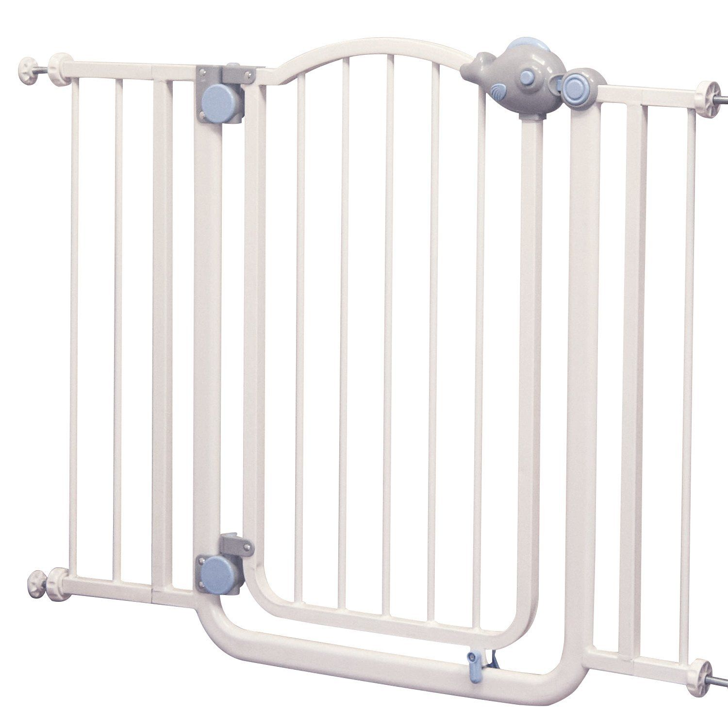 Extra Wide Easy Close Stairs Guard Bar Baby/Pet Fence Metal Walk Through  Safety Gate