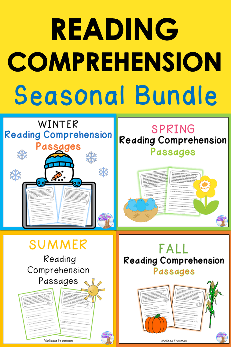 These fun seasonal reading passages can help primary ...