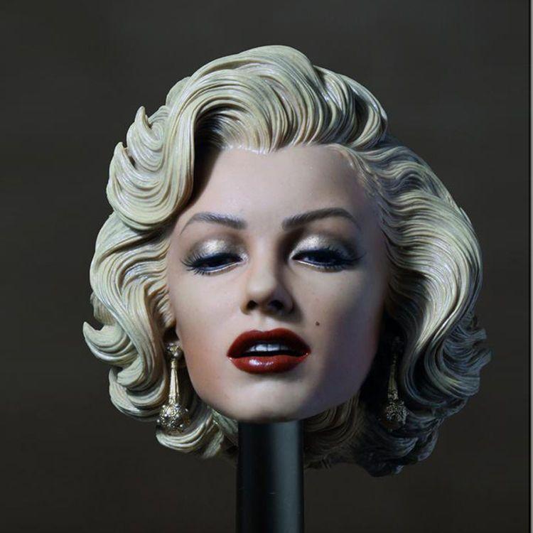 1//6 Scale Famous Star Female Head Sculpt for 12/'/' Phicen Female Body Parts
