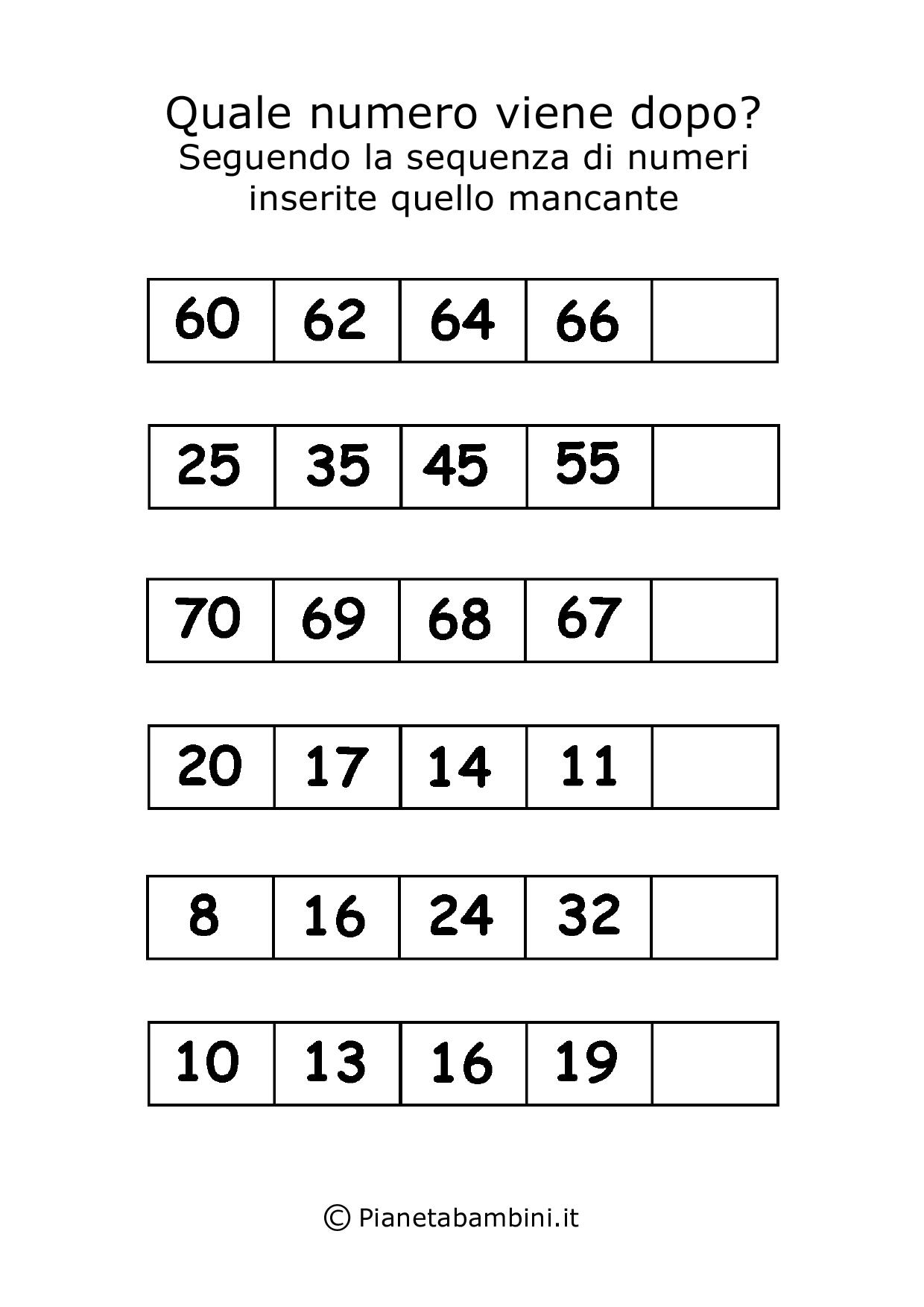 Giochi Di Matematica Per Bambini Di 6 7 Anni Da Stampare
