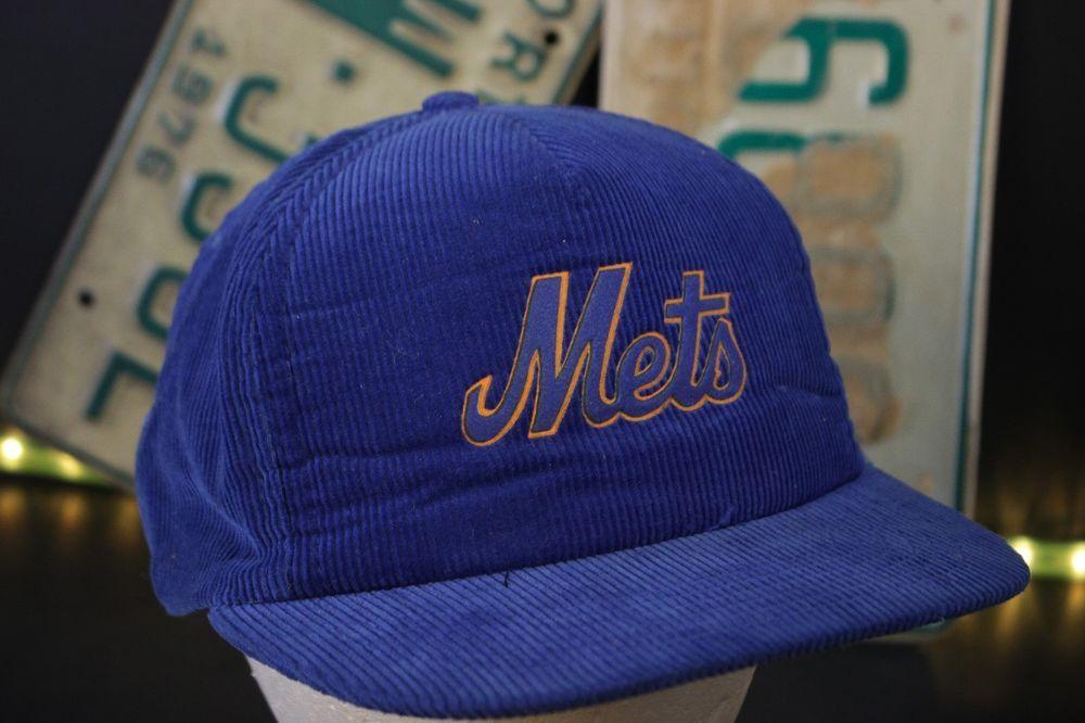 on sale 1364a e9d78 Vintage New York Mets Baseball Hat Trucker Cap Corduroy Blue Gaterade Retro   MLB  BaseballCap