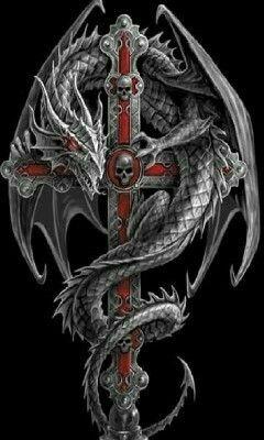 Dragon And Sword Black Dragon Tattoo Dragon Tattoo Dragon Artwork