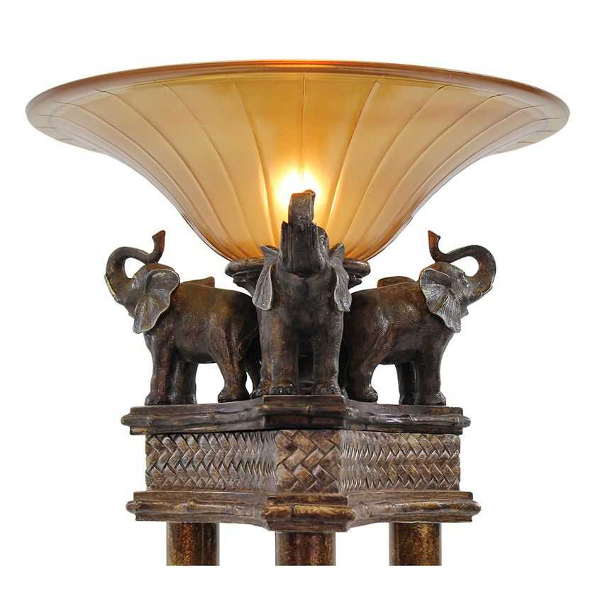 Elephant Floor Lamp El Dorado Furniture Throughout Base ...