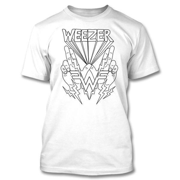 9717389a Lightning Hands T-shirt - Weezer Official Online Store - 1 ...