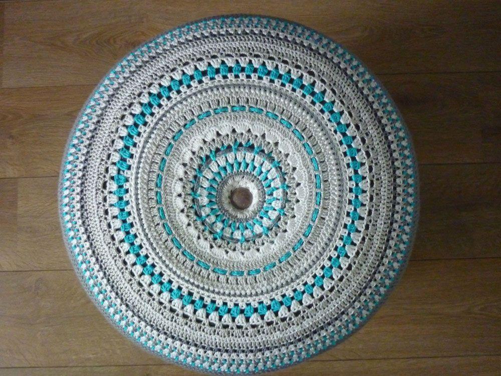 Poef Haken Patroon Google Zoeken Crochet Poufs Pinterest