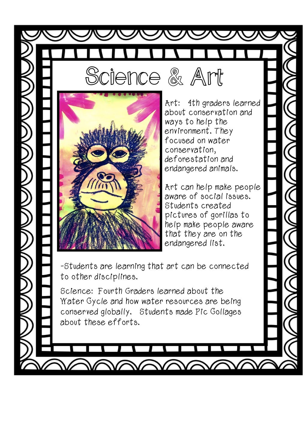 Art Amp Science 4th Graders Learned About Endangered
