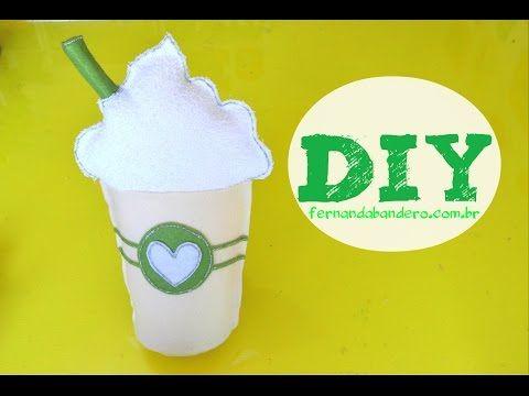 DIY Almofada Copo Starbucks - inspiração - YouTube