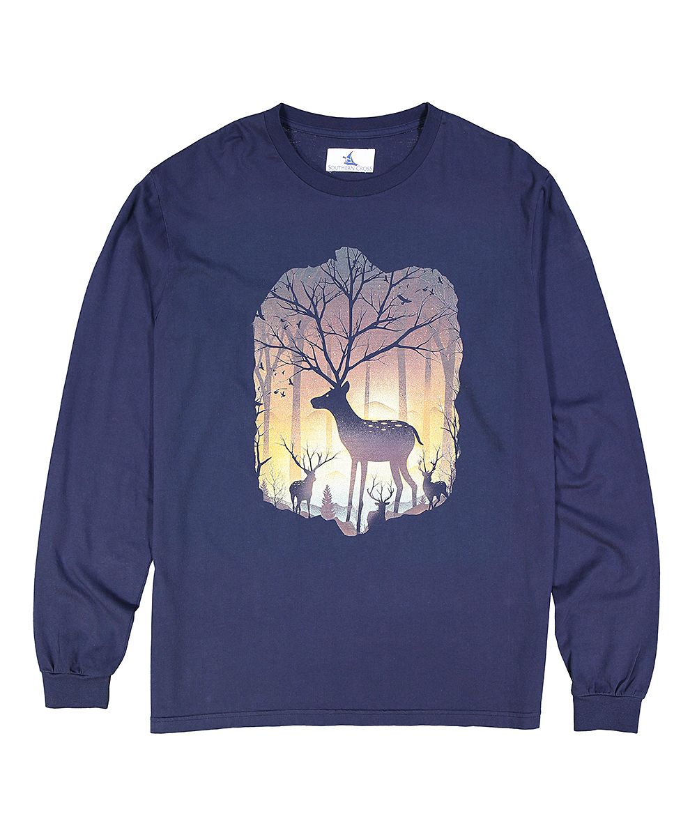 3ea2ec158019 Navy Blue Deer Forest Graphic Tee | Products | Pinterest | Graphic ...