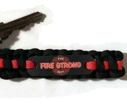 Fire Strong Paracord keychain