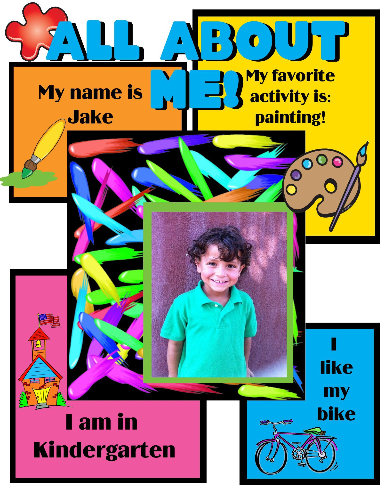Create A Poster About All About Me