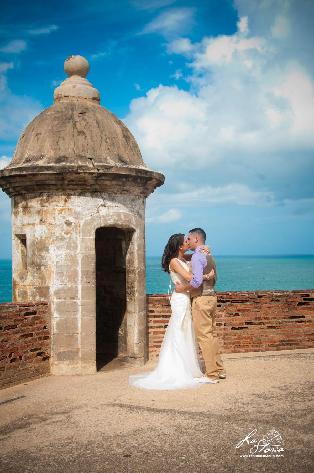 Real Destination Wedding in Puerto Rico. Castillo San