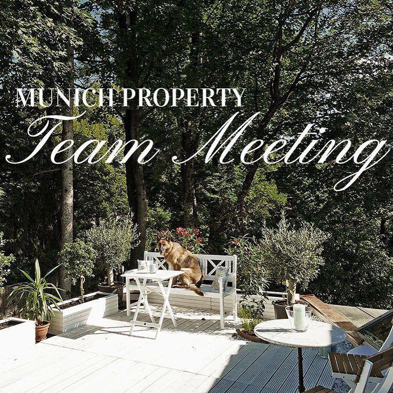 Herzlich Willkommen Zu Unserem Morgendlichen Team Meeting Bei Der Munich Property Wie Gefallt Euch Unsere Neue Terrasse Bei Munich Property Meet The Team