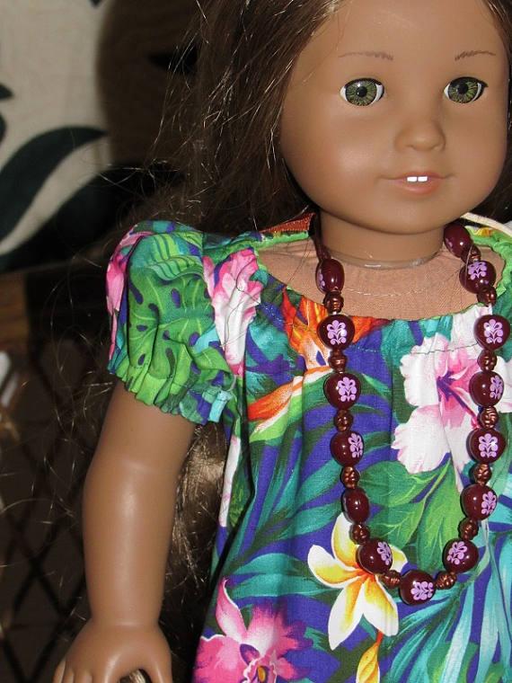 01a83a0fd03d6 Traditional Hawaiian Mu'u Mu'u for American Girl Kanani Nanea or other 18  inch doll
