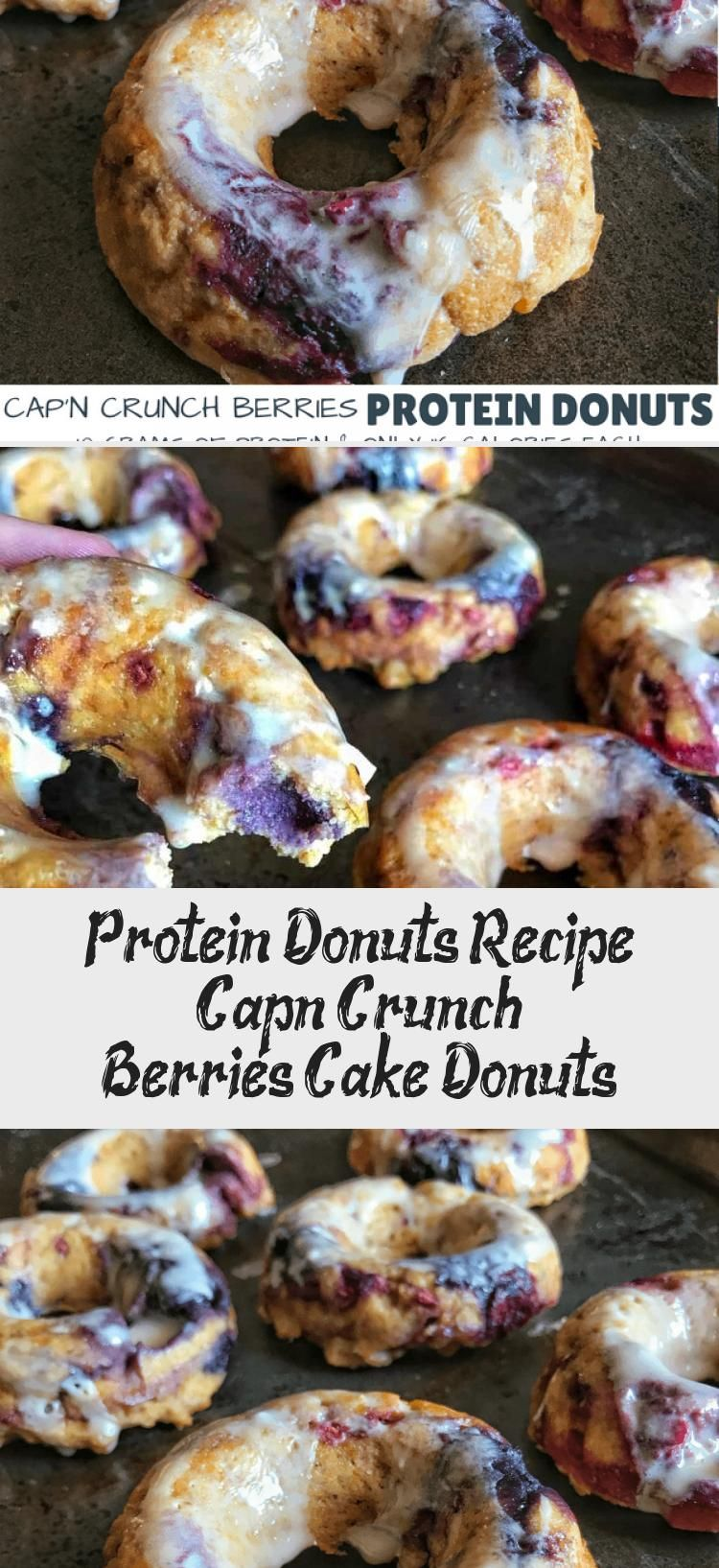 Protein Donuts Recipe: Cap'n Crunch Berries Cake Donuts #proteindonuts