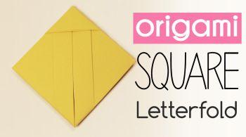 OrigamiSquareLetterfold  Papier  Paper    Origami