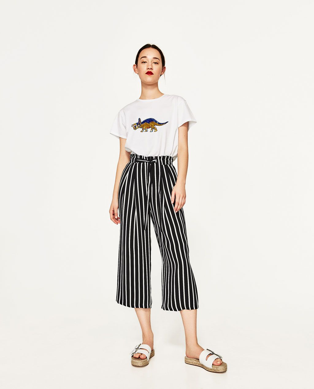fe61ca56924da7 Image 1 de JUPE-CULOTTE de Zara | VETEMENTS | Jupe culotte, Jupe et Mode