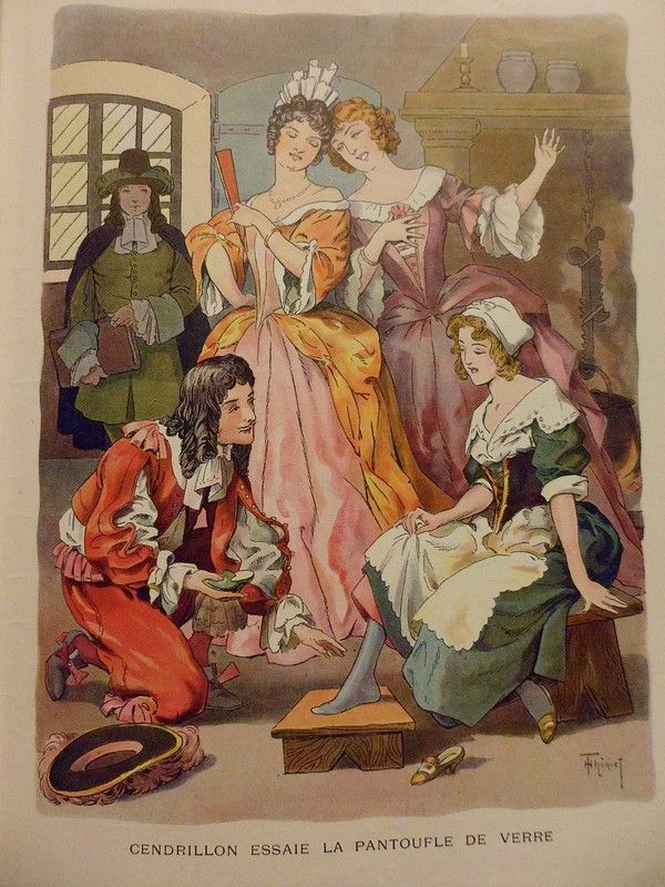 Cendrillon illustrations des contes des fr res grimm cendrillon fable et conte - Cendrillon le dessin anime ...