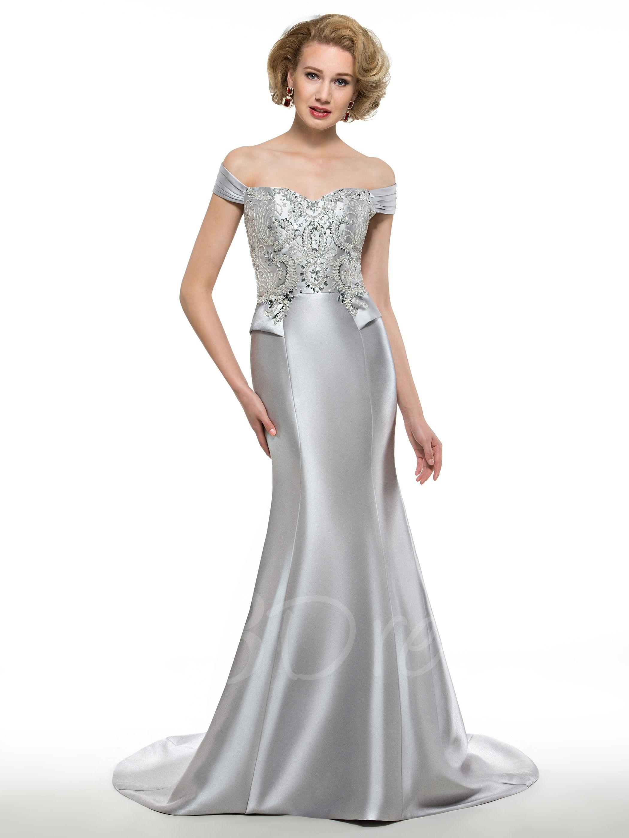 Off The Shoulder Beaded Mermaid Mother Dress Bride dress