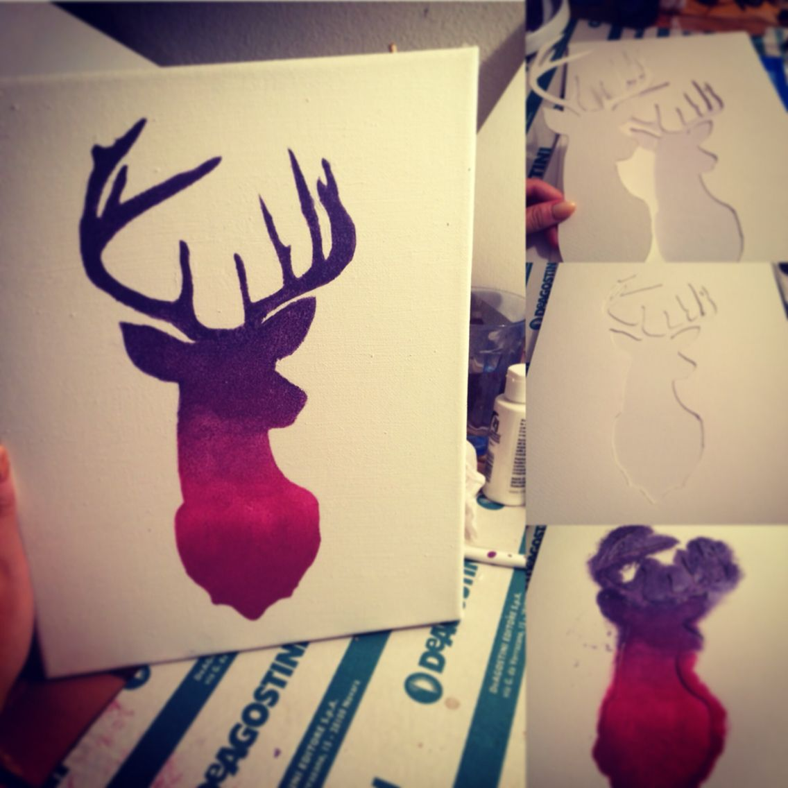 Deer diy canvas my project
