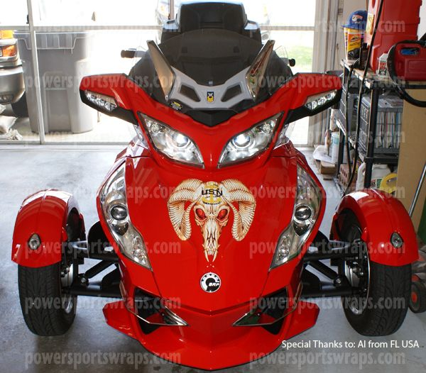 Can-Am Spyder Custom Decal, Spyder Graphics,